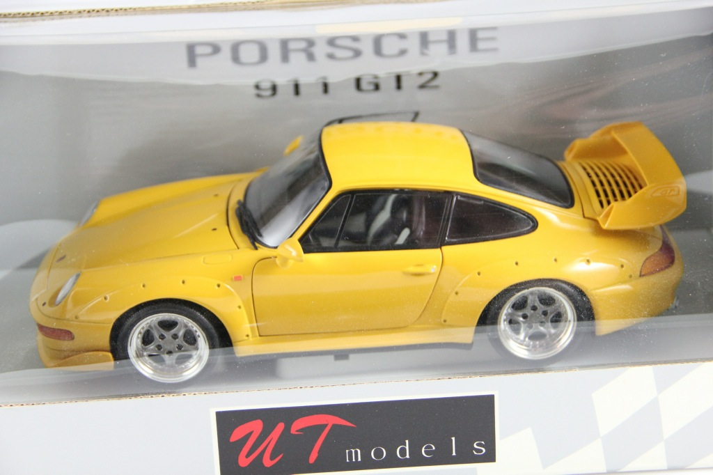 porsche 911 gt2 993 street gelb mega rar 1 18 ut sammler ovp ebay. Black Bedroom Furniture Sets. Home Design Ideas